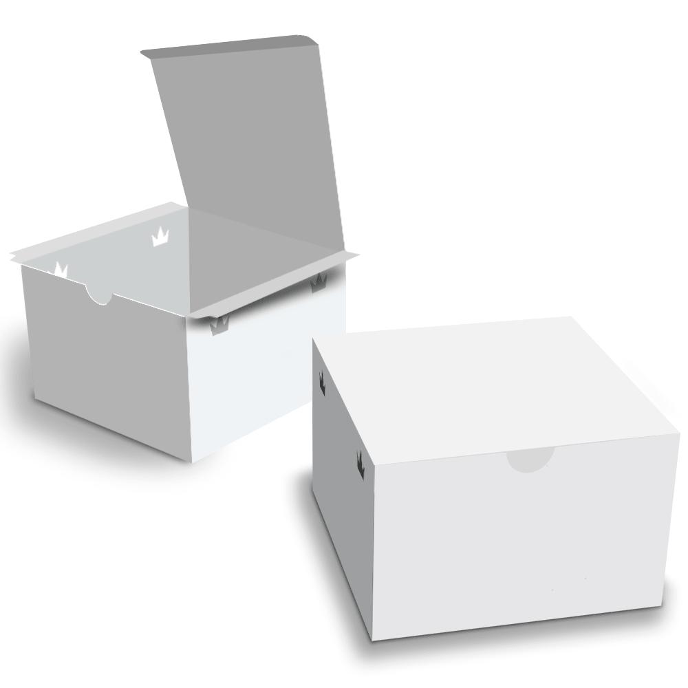 Embalagem para Lanches ou Hambúrguer - WHITE - 100 unidades - G  - 24 PRINT EMBALAGENS