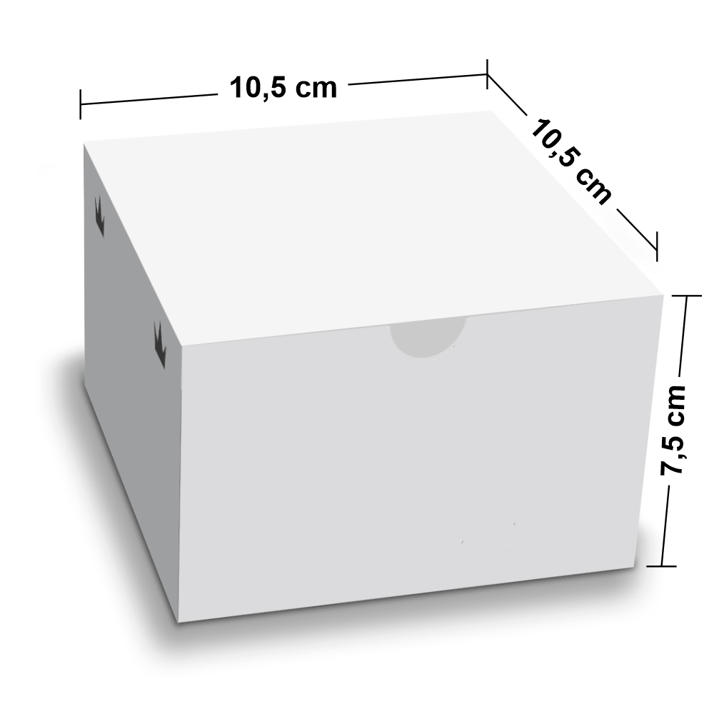 Embalagem para Lanches ou Hambúrguer - WHITE - 100 unidades - P  - 24 PRINT EMBALAGENS