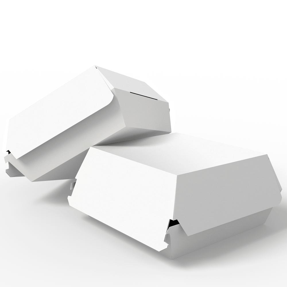 Embalagem para Lanches ou Hambúrguer - WHITE - 100 unidades - PADRÃO  - 24 PRINT EMBALAGENS