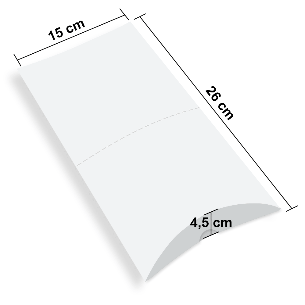 Embalagem para Pastel Delivery - WHITE - 100 unidades  - 24 PRINT EMBALAGENS