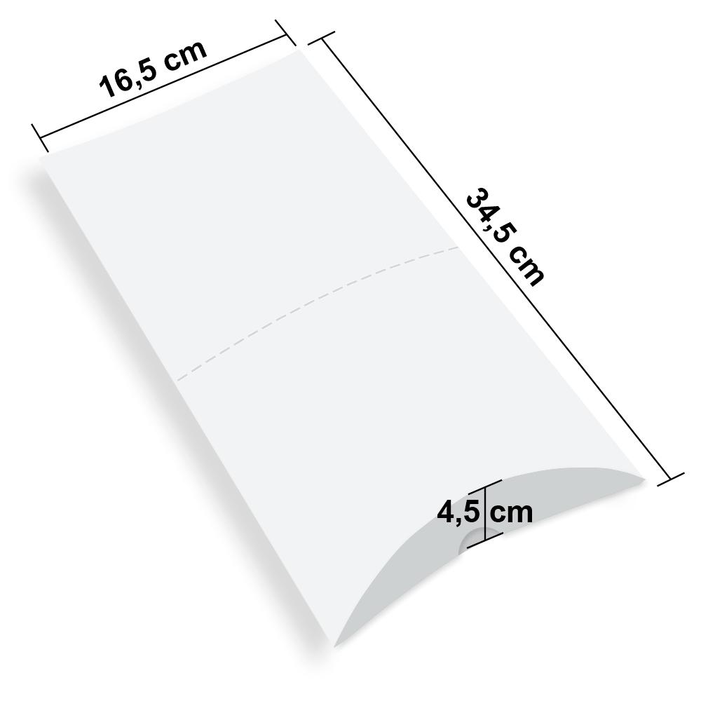 Embalagem para Pastel Delivery Grande - WHITE - 100 unidades  - 24 PRINT EMBALAGENS