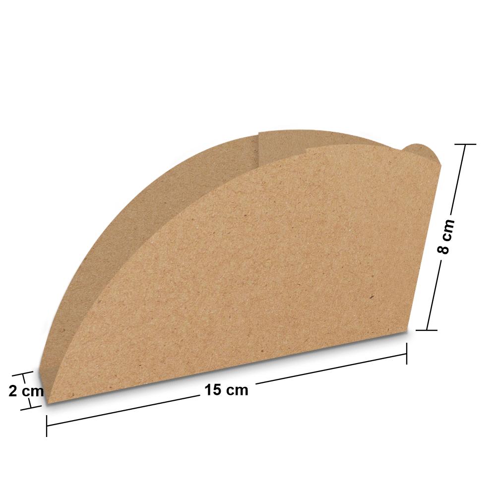 Embalagem para Pastel - KRAFT - 100 unidades  - 24 PRINT EMBALAGENS