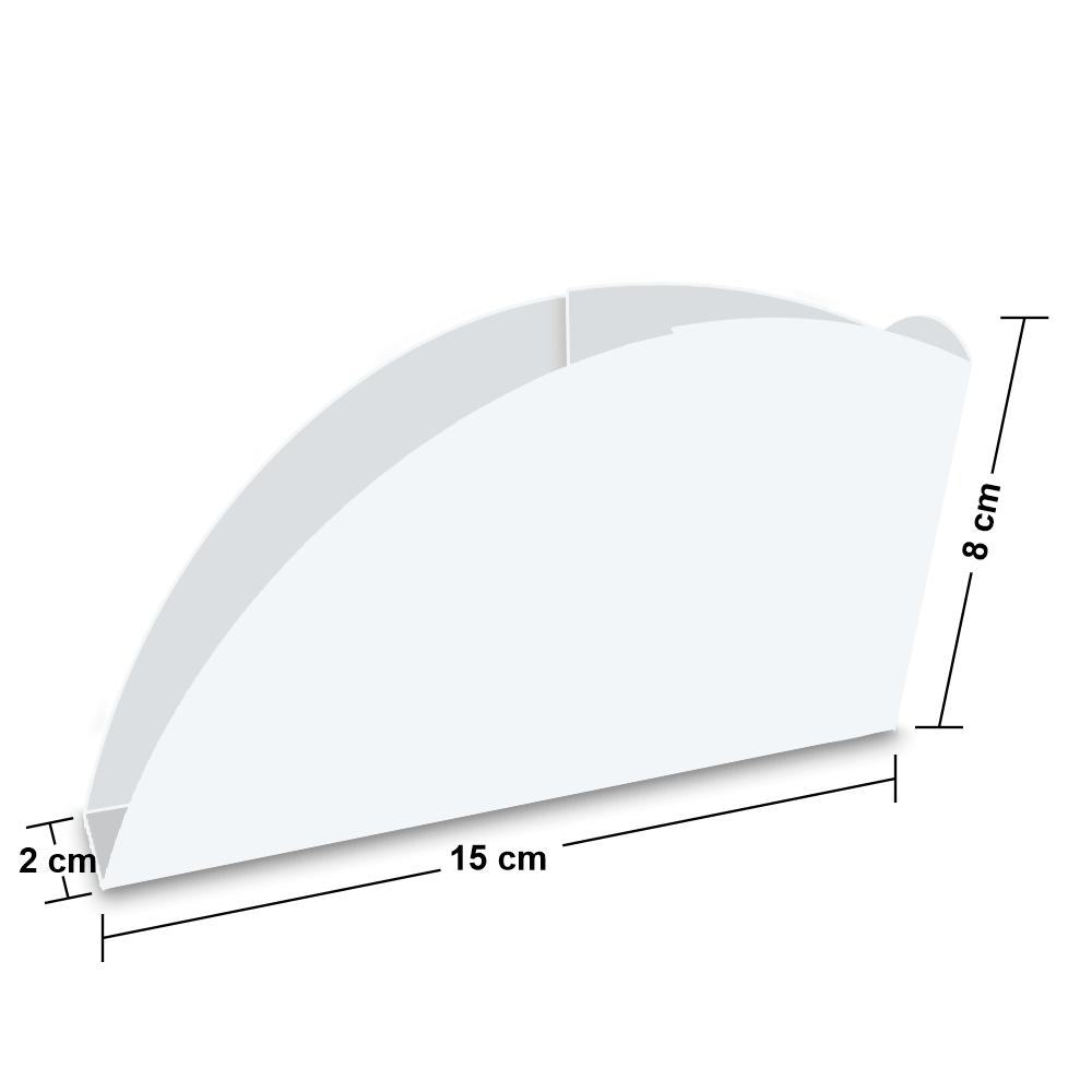 Embalagem para Pastel - WHITE - 100 unidades  - 24 PRINT EMBALAGENS