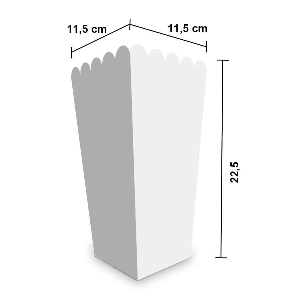 Embalagem para Pipoca Grande - WHITE - 100 unidades  - 24 PRINT EMBALAGENS