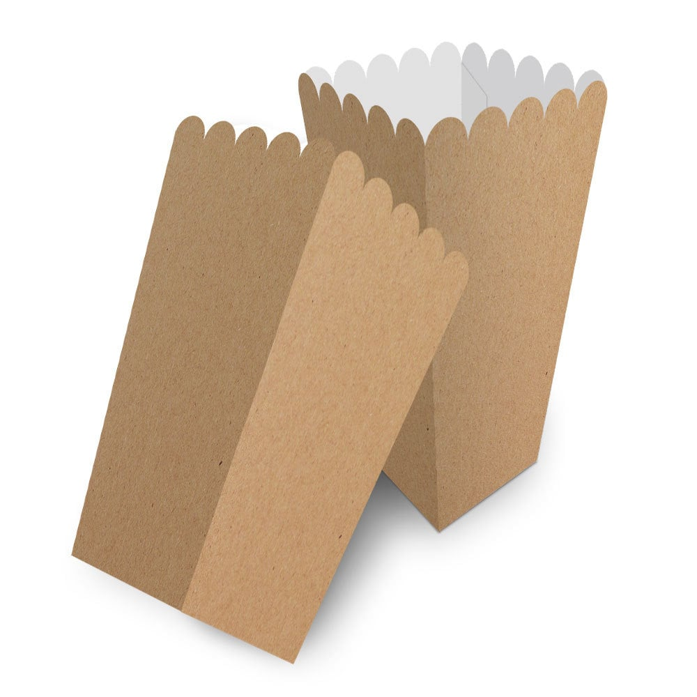 Embalagem para Pipoca Média - KRAFT- 100 unidades  - 24 PRINT EMBALAGENS
