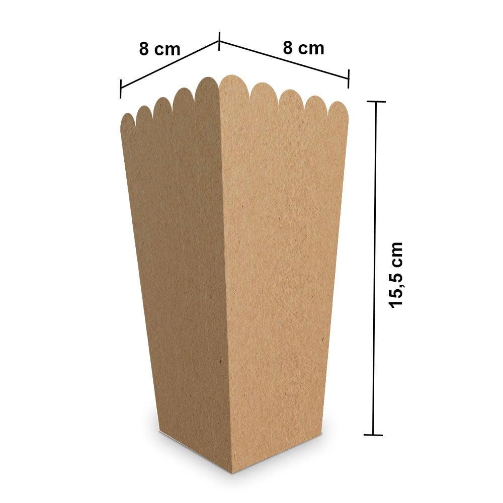 Embalagem para Pipoca Pequena - KRAFT - 100 unidades  - 24 PRINT EMBALAGENS
