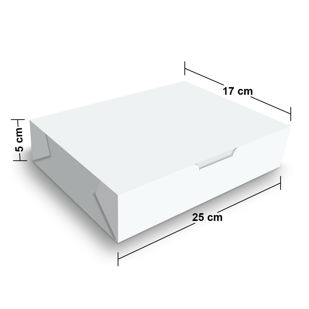 Embalagem para Sushi e Combinados - WHITE - 100 unidades  - 24 PRINT EMBALAGENS