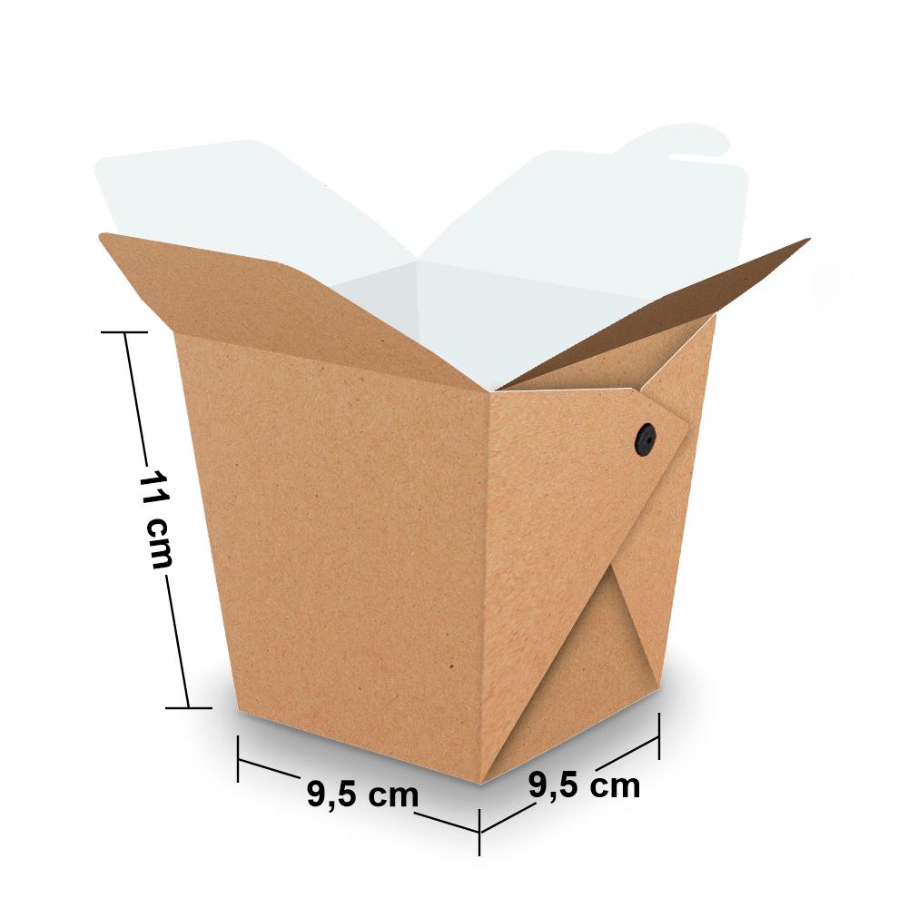 Embalagem para Yakisoba Grande - KRAFT - 100 unidades  - 24 PRINT EMBALAGENS