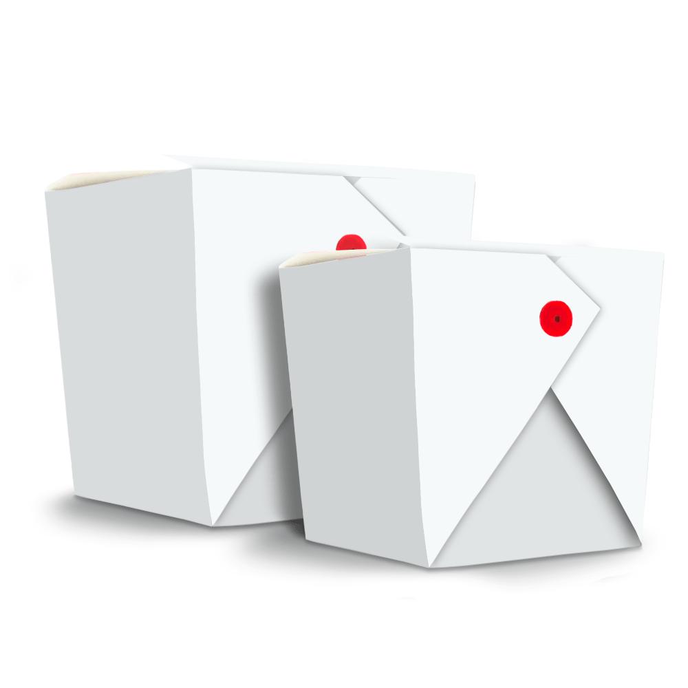 Embalagem para Yakisoba Grande - WHITE - 100 unidades  - 24 PRINT EMBALAGENS