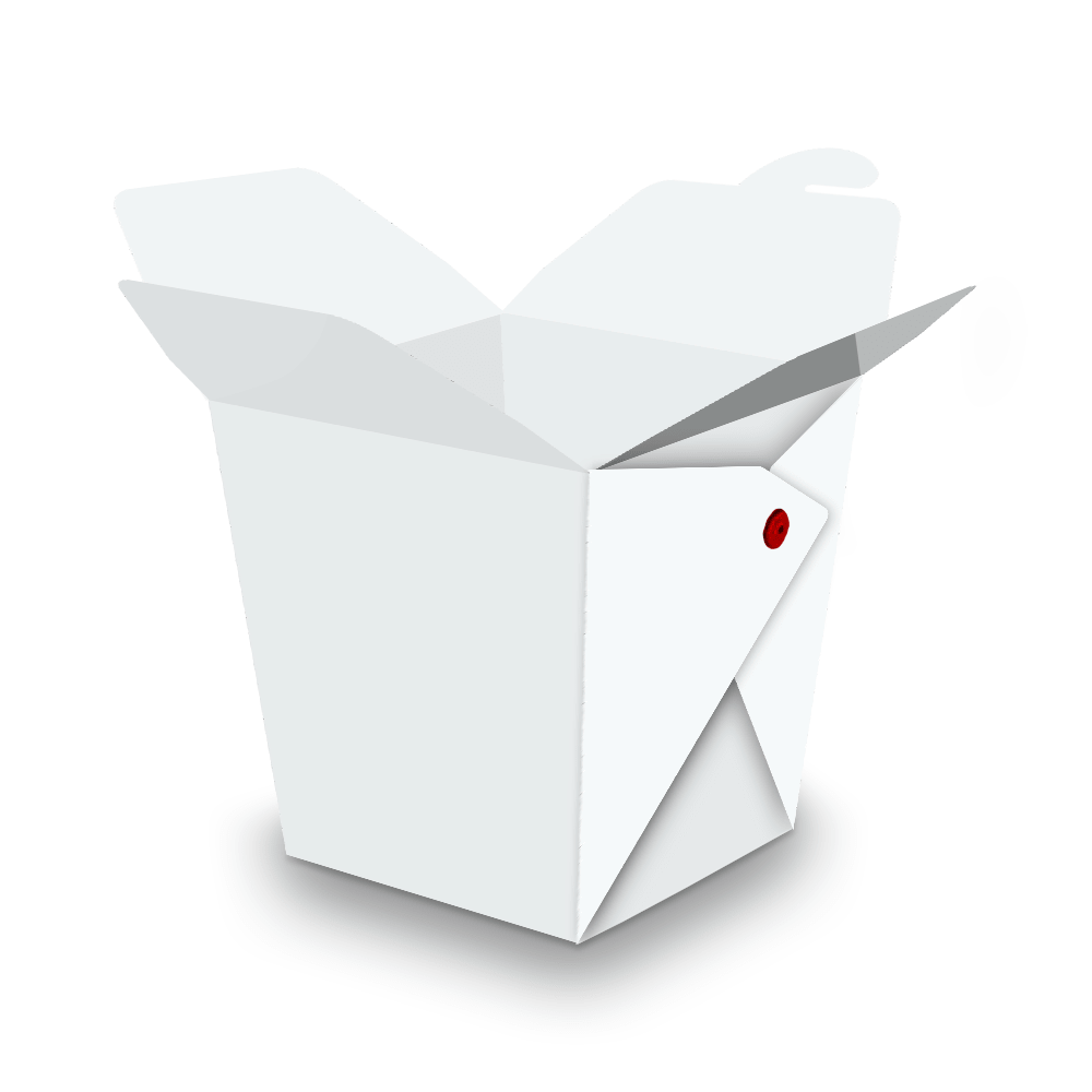Embalagem para Yakisoba Pequeno - WHITE - 100 unidades  - 24 PRINT EMBALAGENS