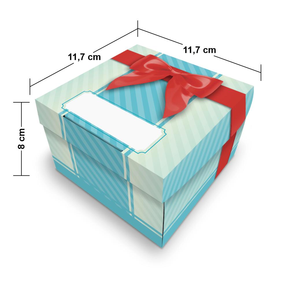 Embalagem Surpresa - 1 unidade - Azul - 100 unidades  - 24 PRINT EMBALAGENS