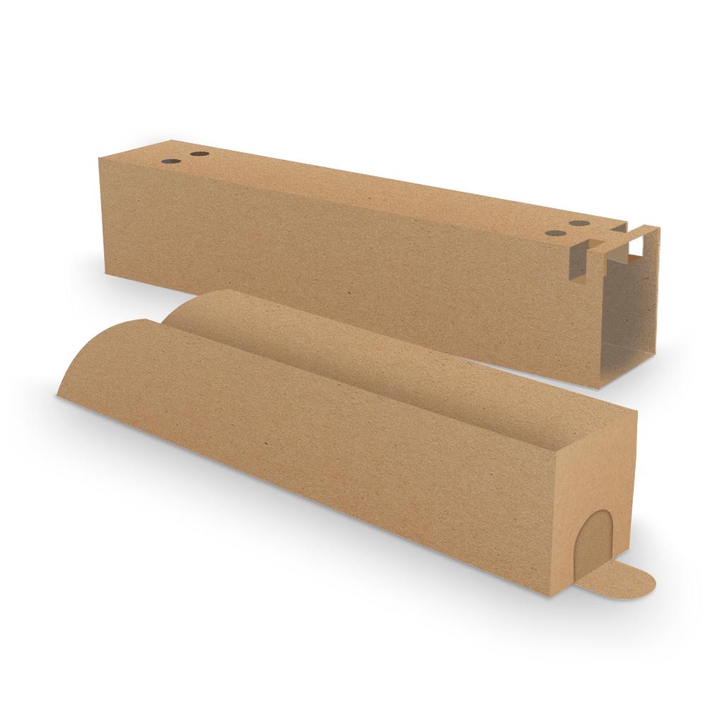 Kit Embalagem para Churros Interno e Externo Gourmet - KRAFT - 100 unidades  - 24 PRINT EMBALAGENS