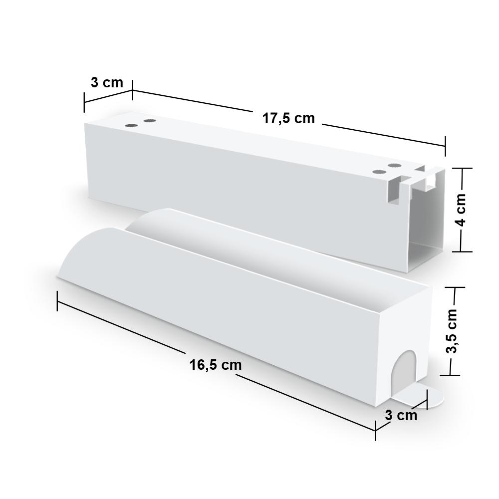 Kit Embalagem para Churros Interno e Externo Gourmet - WHITE - 100 unidades  - 24 PRINT EMBALAGENS