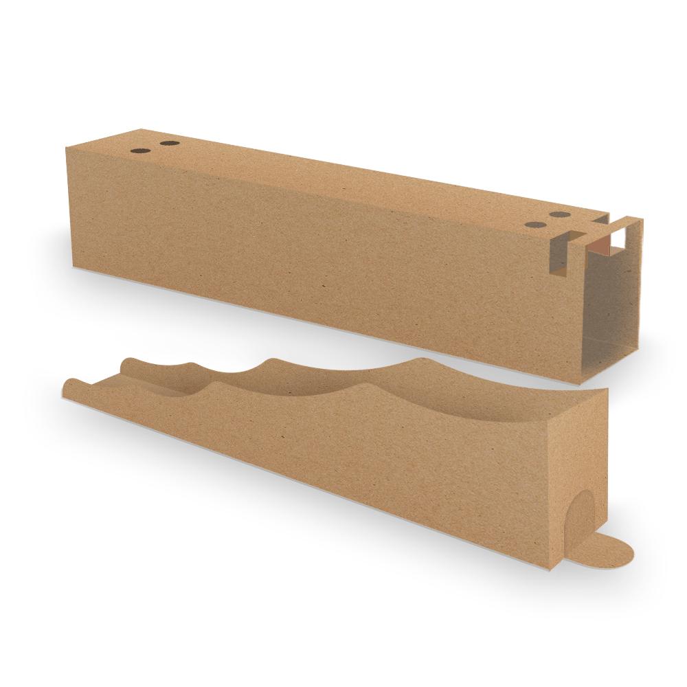 Kit Embalagem para Churros Interno Ondulado e Externo Gourmet - KRAFT - 100 unidades  - 24 PRINT EMBALAGENS