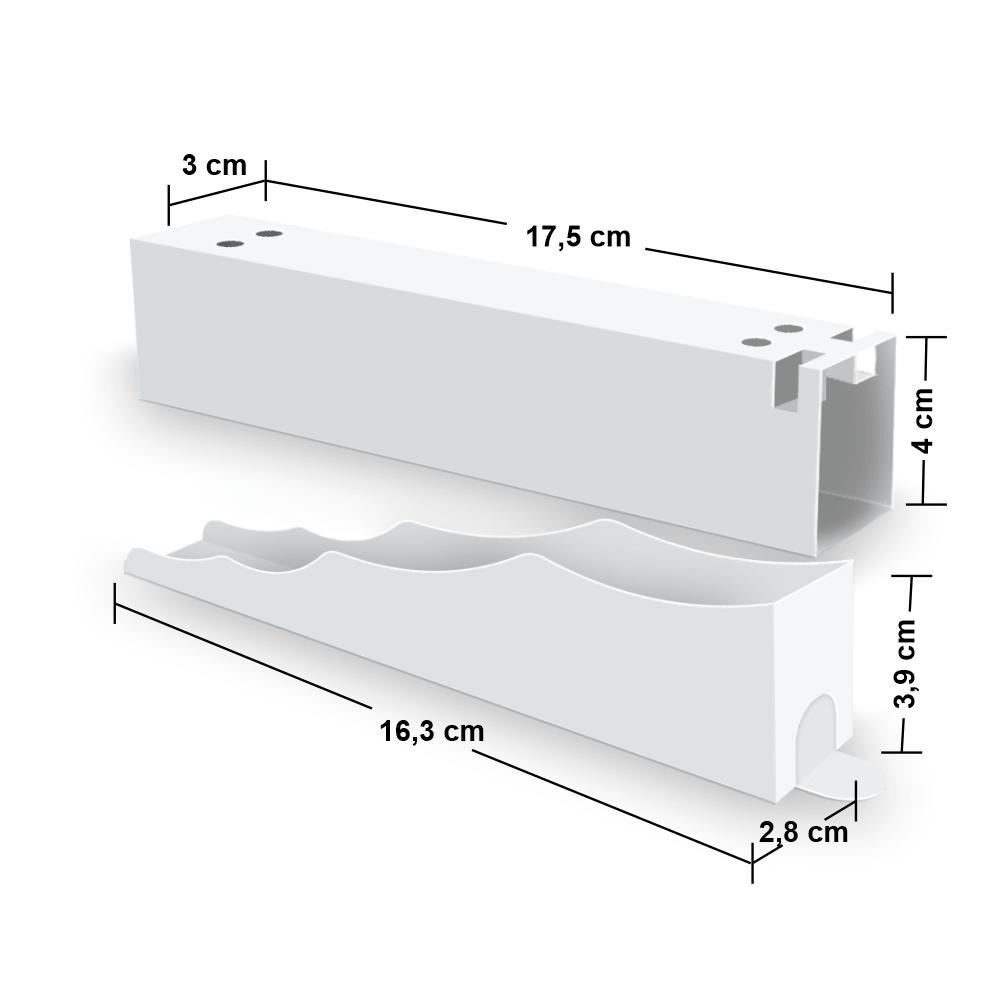 Kit Embalagem para Churros Interno Ondulado e Externo Gourmet - WHITE - 100 unidades  - 24 PRINT EMBALAGENS