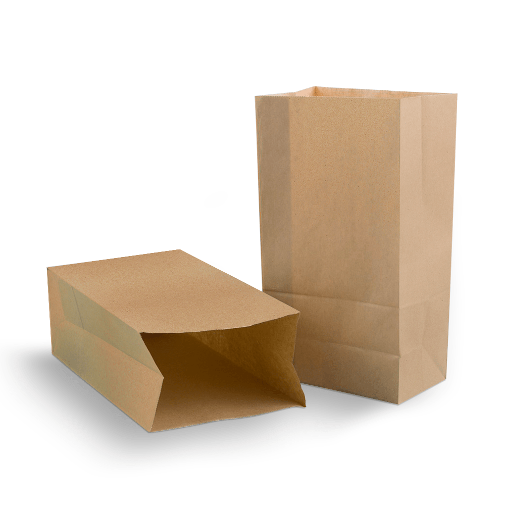 Saco Kraft para Delivery Pequeno sem Alça - Liso - 100 unidades  - 24 PRINT EMBALAGENS