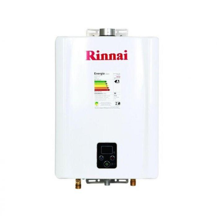 Aquecedor de Água a Gás GLP 21L E21 FEHB Digital Monofásico Rinnai