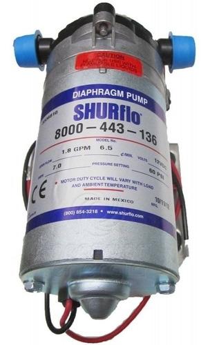 Bomba Solar Shurflo de Diafragma 1.8 Gpm 60 Psi Pulverizador Elétrico 12v