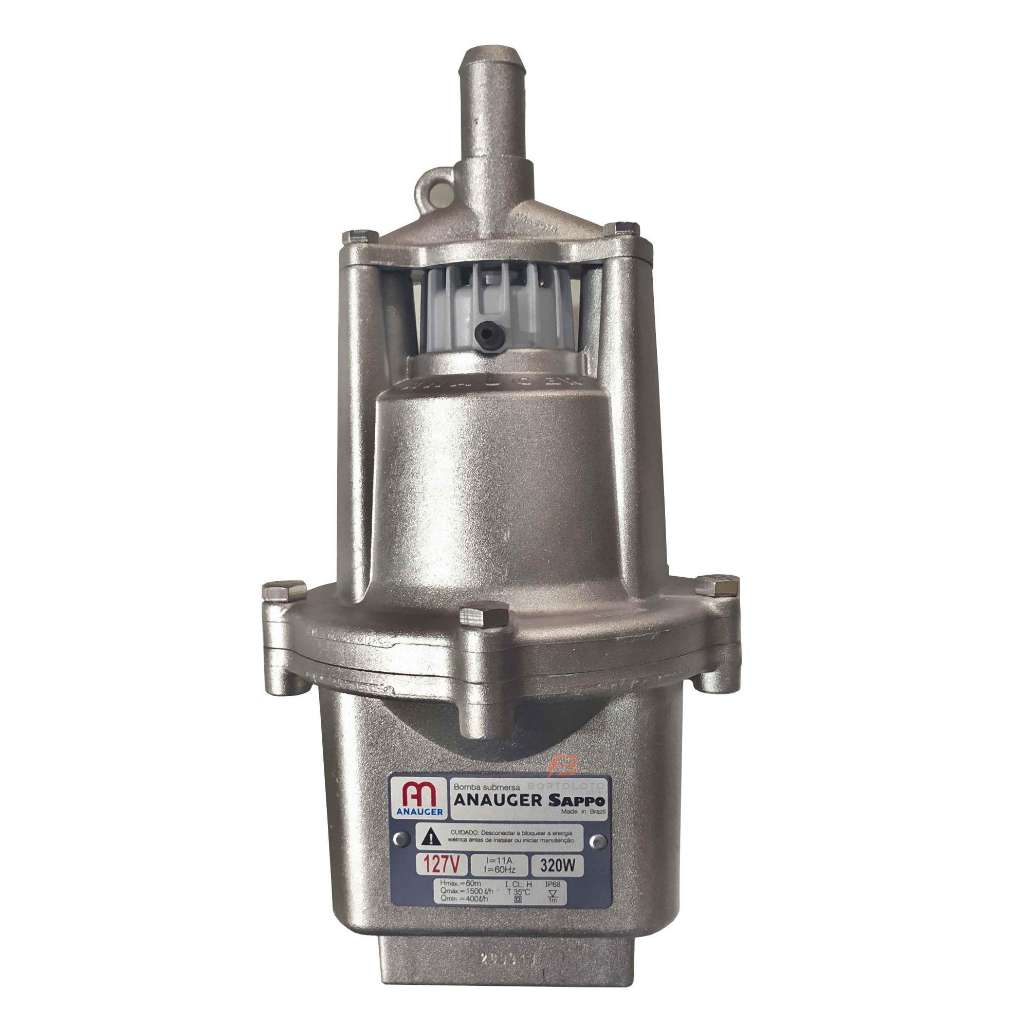 Bomba Submersa Vibratória Para Poço Anauger Sappo 5G Monofásica 110V