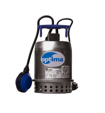 Bomba submersível INOX THEBE OPTIMA 1/3CV  110V Monofásica c/ bóia automática de nivel