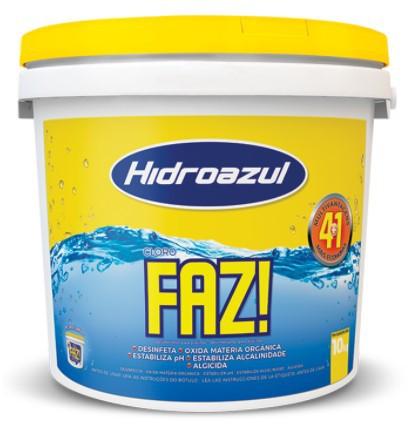Cloro FAZ Hidroazul 10KG