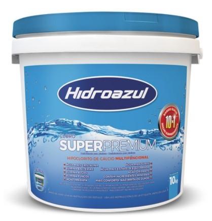 Cloro Super Premium Hidroazul 10KG