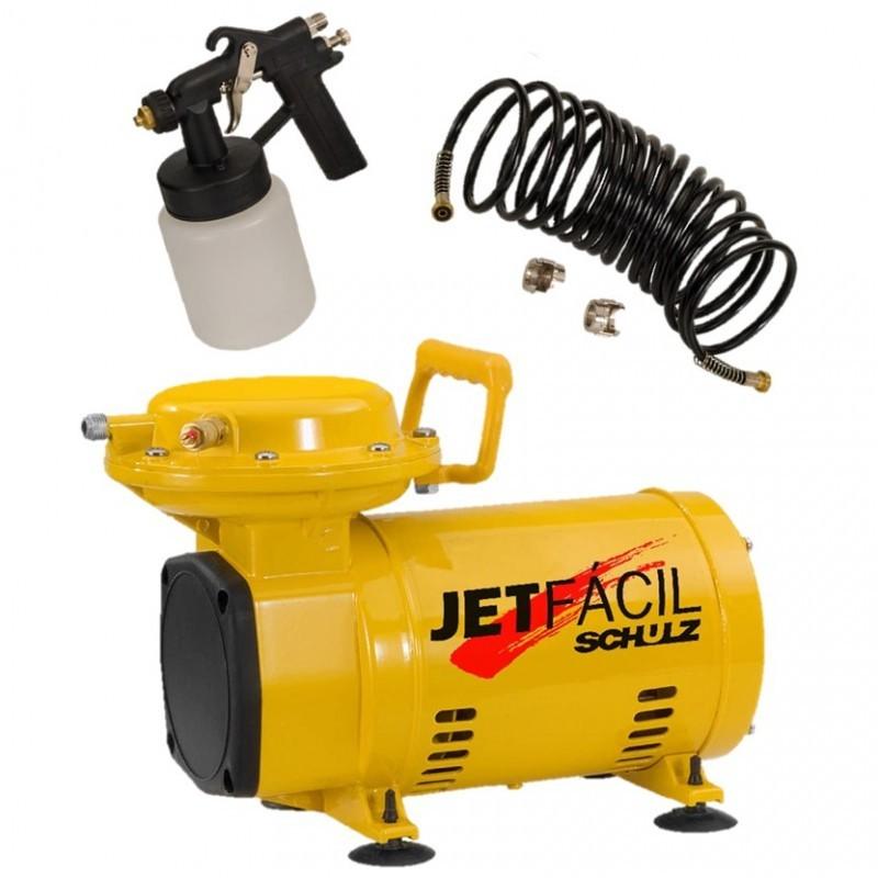 Compressor  Schulz JET FÁCIL  1/3CV 4P 110/220V Mono c/kit acessórios - Hobby
