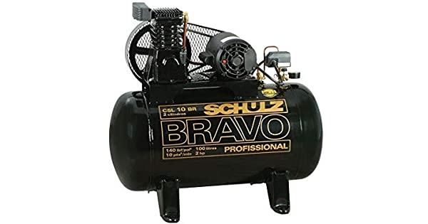 Compressor Schulz BRAVO CSL 10 BR/100 2P 110/220V Mono - Profissional