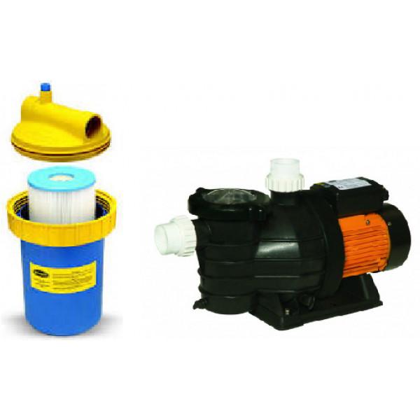 Conjunto filtro cartucho cwf 300 e bomba fit 1,0 CV Jacuzzi