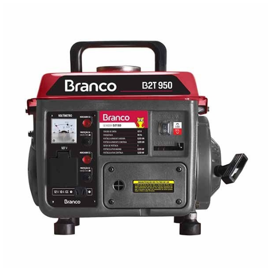 Gerador a Gasolina 0,95KV 110V 4,5L B2T-950 - Branco