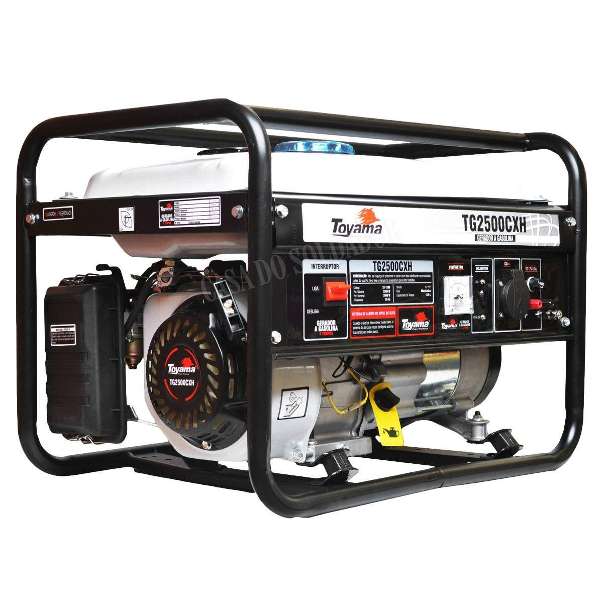 Gerador de Energia a Gasolina 4T TG2500CXH-220 V Toyama