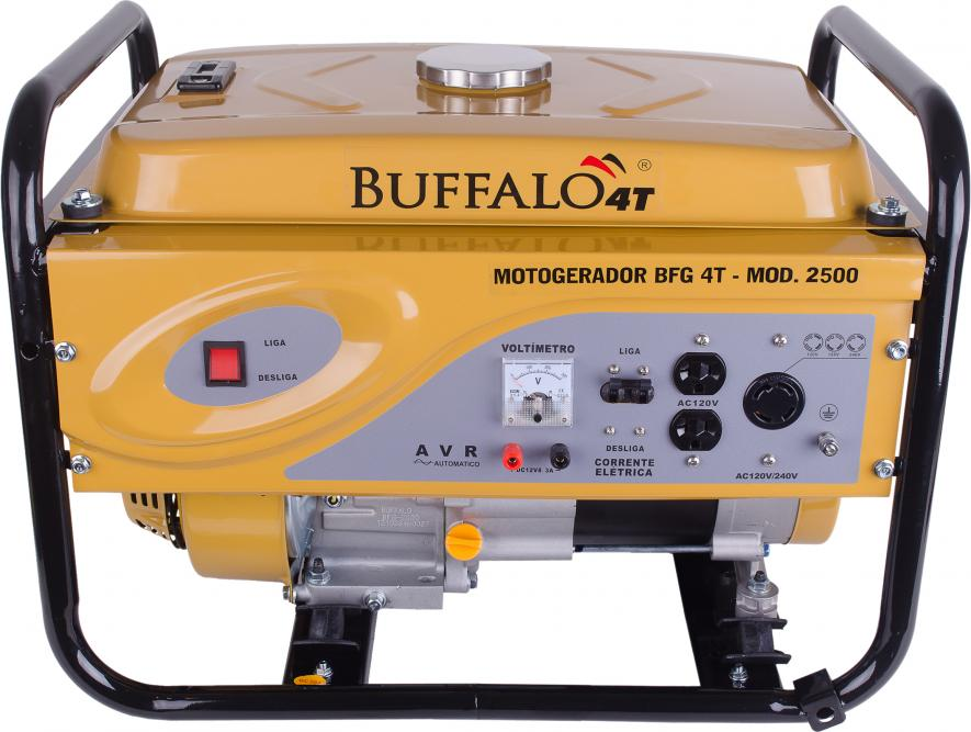 GERADOR DE ENERGIA BUFFALO BFG-2500 PARTIDA MANUAL - MONOFÁSICO - 115/230V