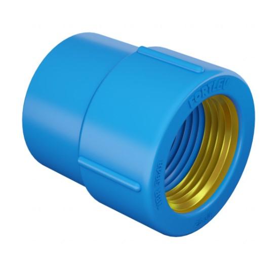 Luva PVC Soldável FORTLEV B/Latão LR - (Azul)