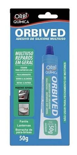 Orbived Adesivo De Silicone 50g Incolor Orbi Quimica