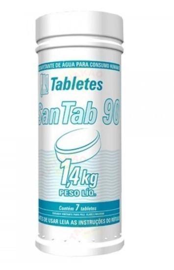 Pastilha de cloro concentrado 90% HIDROALL água potável - 1,4 kg