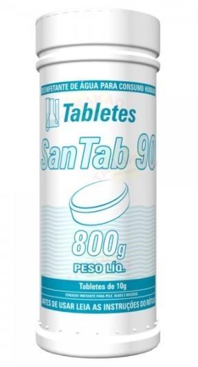Pastilha de cloro concentrado 90% HIDROALL água potável - 800g