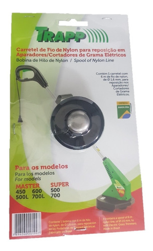 Refil Carretel Com Nylon Trapp Master 450 500 L 600 700 L