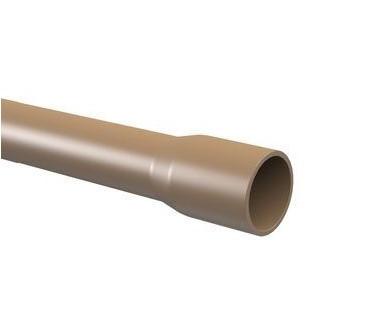 Tubo PVC PBS TIGRE 6m - (Marrom)