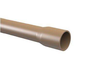 Tubo PVC Soldável TIGRE 6m - (Marrom)