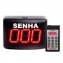 Painel Senha – 3 dígitos – com Chamador Eletrônico Incluso