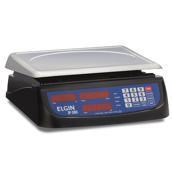 Balança Computadora Elgin DP30 30Kg c/ Bateria