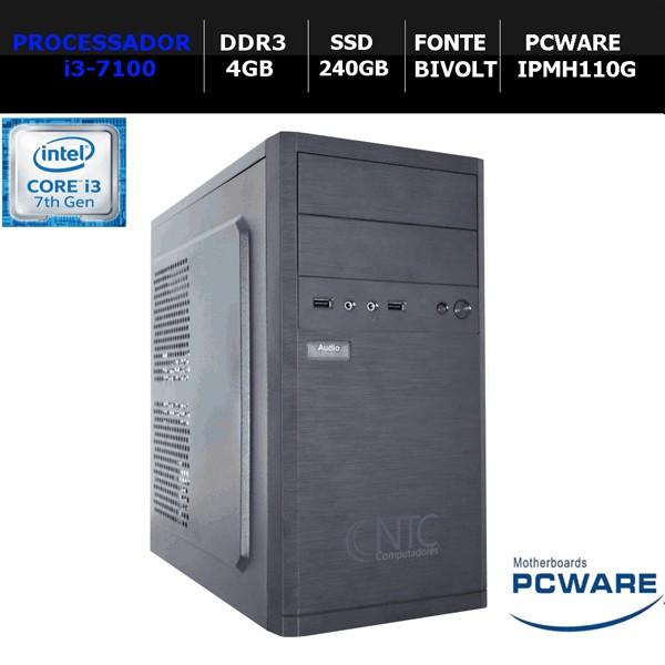 Computador NTC Price Intel Core i3 7100, 4GB, SSD 240GB Windows 10 64 Bits