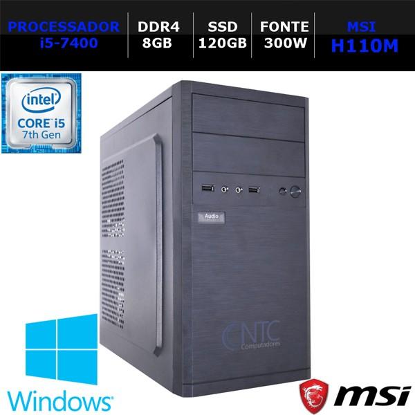 Computador NTC Price Intel Core i5 7400, 8GB, SSD 120GB, 300W, Windows 10 64Bits