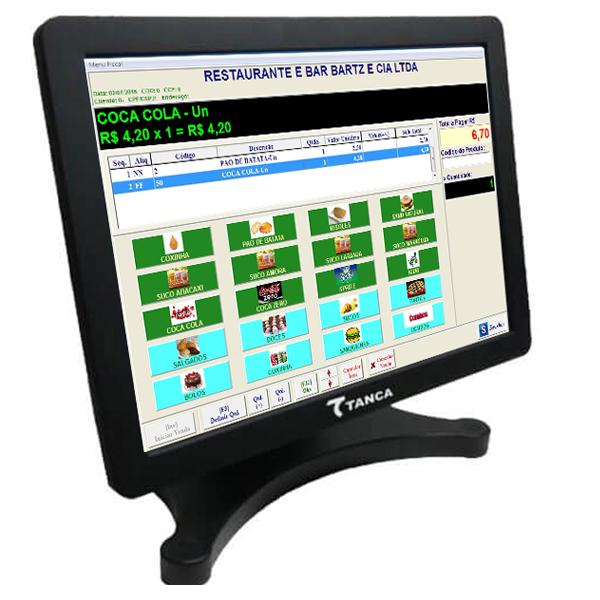 Monitor Tanca Touch Screen 15 polegadas saida VGA TMT 530