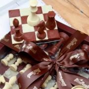 Jogo de Xadrez de Chocolate