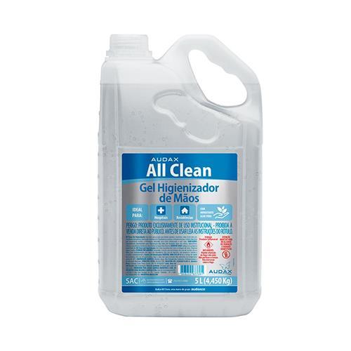 Álcool Gel 5 Lts All Clean Audax