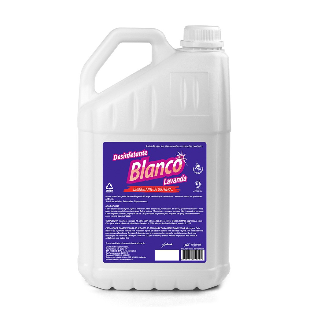 Desinfetante Lavanda 5 Litros Blanco
