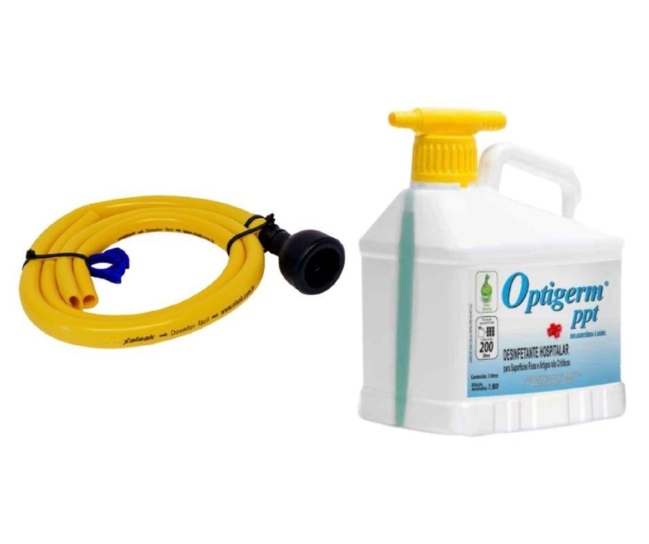 Desinfetante Hospitalar Optigerm PPT 2lt com mangueira para diluição