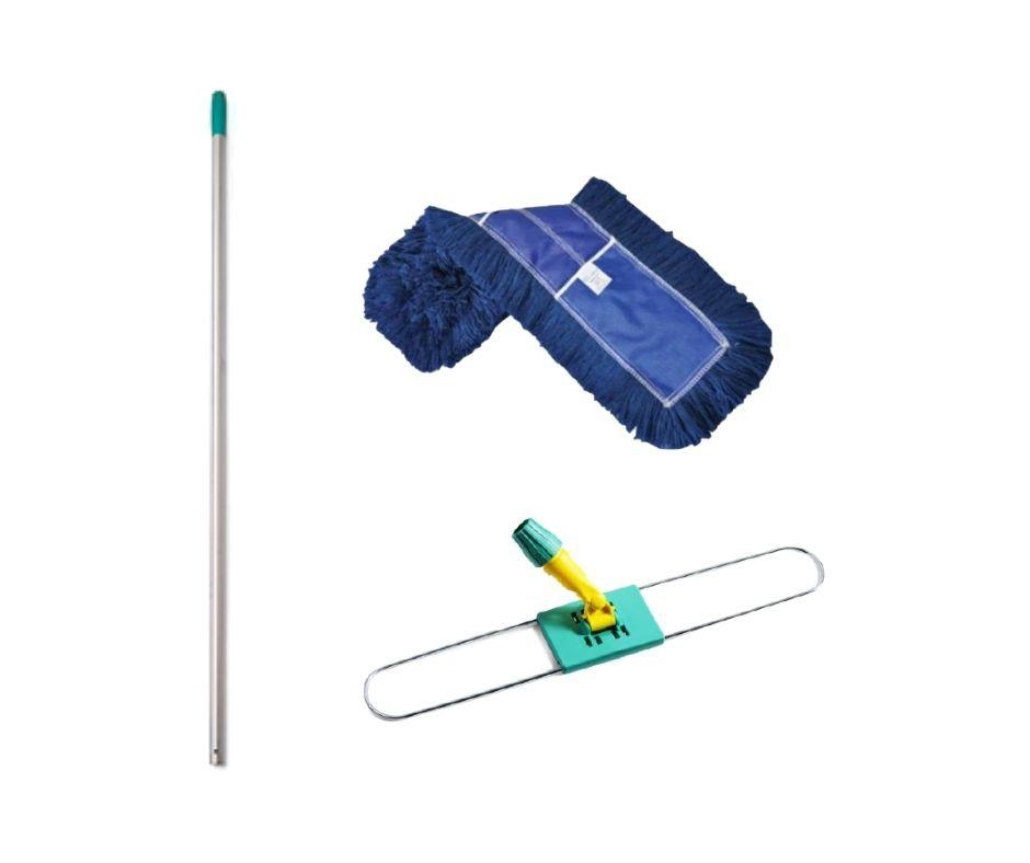 refil mop pó completo 46cm (cabo + suporte + refil)