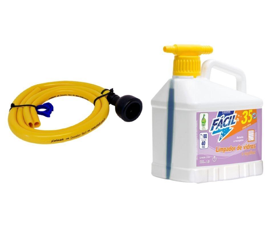 Limpador de Vidros Fácil 35 SB 2lt com mangueira para diluição
